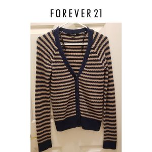 3/$25 🥂 Forever 21 Striped Button up Cardigan